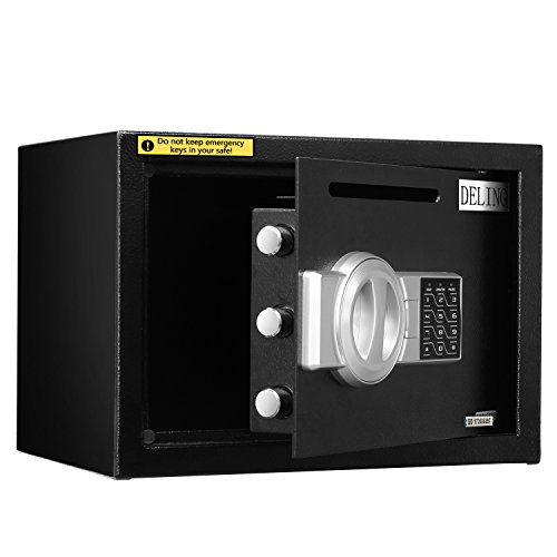 HYD-Parts Digital Security Safety Box,Money Gunsafe Cabinet Box for Home Office Hotel (25) by HYD-Parts (Image #5)