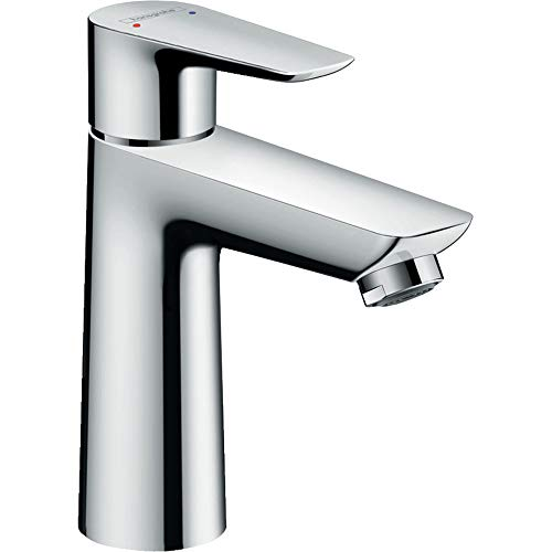 1 Faucet Lav Handle - hansgrohe Talis E  Modern 1-Handle  6-inch Tall Bathroom Sink Faucet in Chrome, 71710001