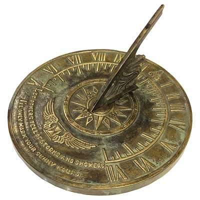 Rome Colonial Sundial in Patina Finish by Rome