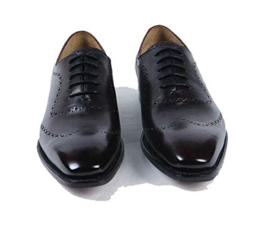 Scarpe Adulto Black Inghilterra Di Alta Da Gentiluomo A Traspirante Lavoro Uomo Intagliato Derby Gamma brown Punta a7AqtR
