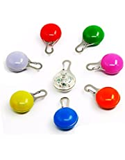 Swesy 8 Pack Dog/Cat Clip-On Pet Collar Light Waterproof SpotLit LED Dog Collar Charms Safety Lights Stainless Steel Carabiner Clasp Colorful