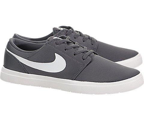 Nike Kids Portmore II Ultralight (GS) Dark Grey/Summit White Skate Shoe 5 Kids US