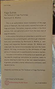 Yoga sutras: The textbook of Yoga psychology