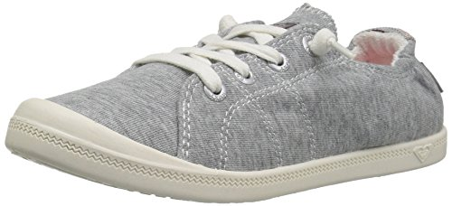 Roxy Girls' RG Bayshore Sneaker, Grey Heather 1 M US Little Kid -