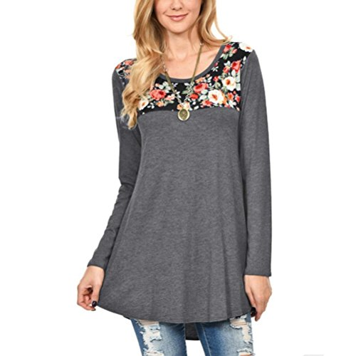 Anxinke 2018 New Women Casual Floral