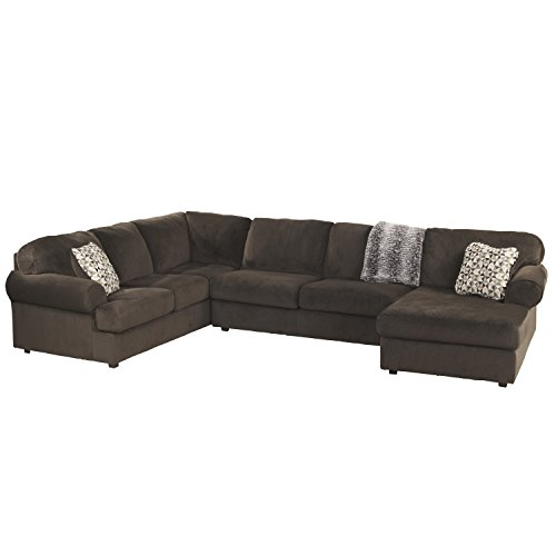 Microfiber Sectional Couch (Flash Furniture Signature Design by Ashley Jessa Place Sectional in Chocolate Fabric)