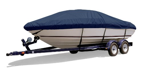 Survivor Marine Products Boat Cover for Euro Style Walk Around Cuddy Cabin Boat (Outboard), Navy, 26-Feet 5-Inch - 27-Feet 4-Inch Length Overall x 102-Inch Beam Width (Cuddy Walk Boat Cover Around)