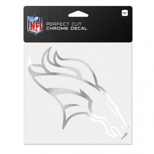 WinCraft NFL Denver Broncos Chrome Perfect Cut Decal, 6 x 6, Black -