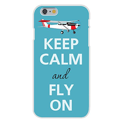apple-iphone-6-custom-case-white-plastic-snap-on-keep-calm-and-fly-on-airplane