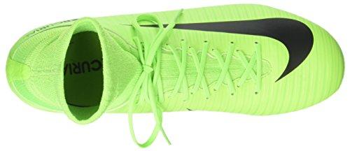 NIKE Kids Mercurial Superfly V FG Electric Green/Black/Flash Lime Soccer Shoes - 4Y - Image 7