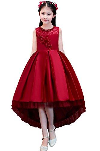 dressfan Elegant Flower Girl Lace Dress for Party Wedding
