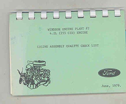 Manual Line (1979 Ford Windsor Engine Plant 255 Engine Assembly Line Manual Brochure)