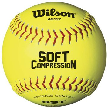 Wilson A9117 Soft Compression Softball (12-Pack), Optic Y...