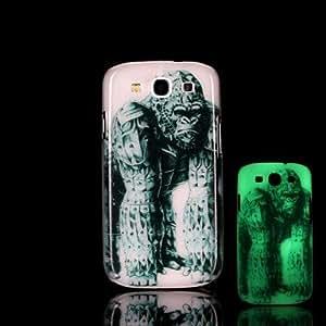 GX 20150511 resplandor patrón orangután en el caso duro oscuro para Samsung Galaxy S3 i9300