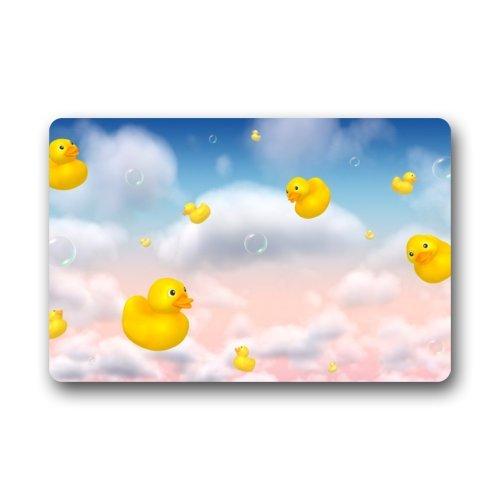 Little Rubber Ducky in the Dream Sky Doormats Entrance Mat Floor Mat Door Mat Rug Indoor/Outdoor/Front Door/Bathroom Mats Rubber Non Slip (23.6