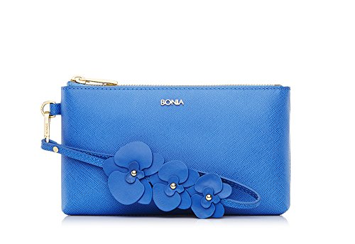 bonia-womans-blue-orchid-pouch
