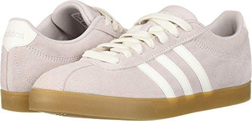 adidas Women's Courtset Sneaker Cloud White/ice Purple/ice purple, 6 M US - Purple Skateboard Shoe