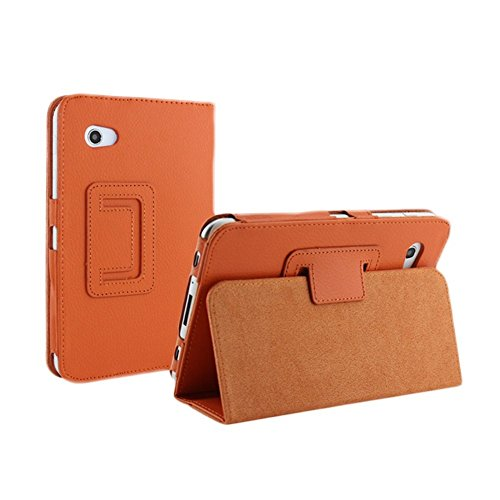 Price comparison product image Aroko(TM) PU Leather Flip Case with Stand for 7-inch Samsung GALAXY Tab 2 P3100/P3110/ P3113/P6200 (For Galaxy Tab2 7.0, Orange)