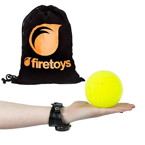 - Play SIL-X 100mm Contact Juggling Ball + Firetoys Bag, (UV Yellow)
