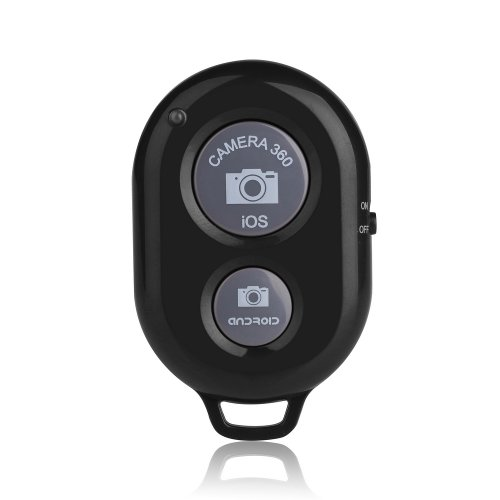 VicTsing Bluetooth Wireless Remote Control Camera Shutter Release Self Timer for iphone 5 5S 5C 4S 4, ipad 5 4 3 ipad Air Mini Sony Xperia HTC New One and X Samsung Galaxy S3 S4 S5 Note 1 2 3 Galaxay Tab 2 Note8 10.1 Google Nexus 4 5 7 IOS Android Smartphones Tablets(Black)