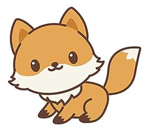 Amazon Com Adorable Kawaii Fox Emoji Cartoon 2 Vinyl