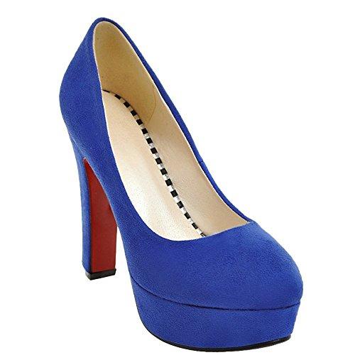 Charm Foot Womens Elegant Platform High Heel Party Dress Shoes Blue LCMOCB7RZN