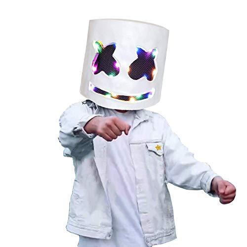 Best Costume Masks (LED Light up DJ Mask, Music Festival Helmets, Latex Full Head Masks Halloween Party Props Costume Masks (LED Light)