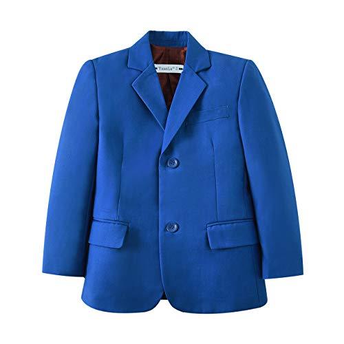 YuanLu Toddler Boys Formal Suits Two Buttons Kids Blazer Jacket Royal Blue Size 8 ()