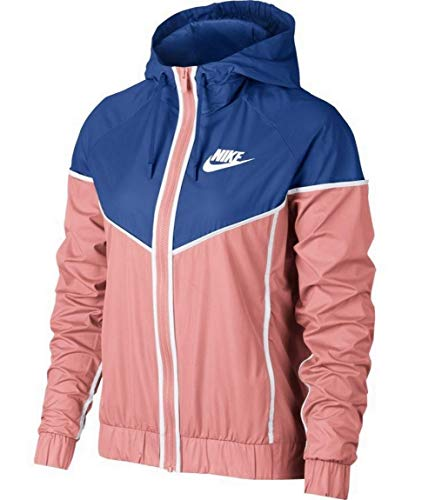 Nike Women's Windrunner Full Zip Jacket 883495-697 Bleached Coral/Game Royal/Sail Size XXL (Plus Size)