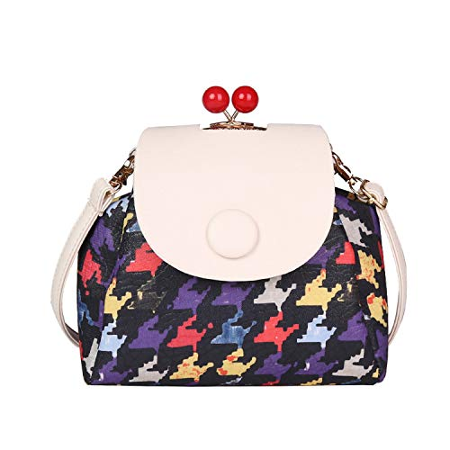 (Fashion Small Messenger Bags Fresh Shoulder patchwork sweety Bags candy colour Lady Bag,black,22cmX10cmX20cm )