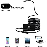 CISNO IP67 8mm Lens WiFi Wireless Endoscope Camera with Hook and Magnet Support iOS Mac Android Windows