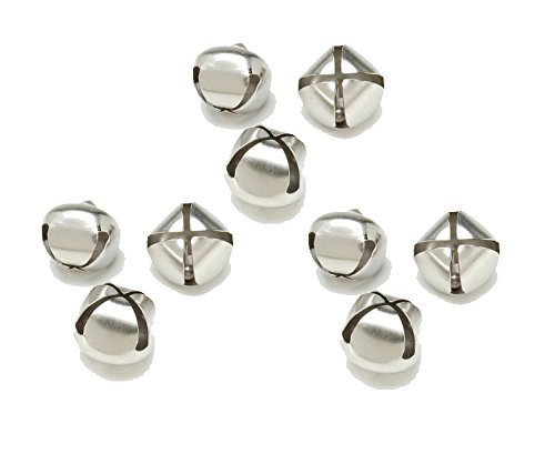 Colored Bell - Jingle Bells 1-inch, Value Pack of 54 Bells, Silver Colored (3 Packs of 18 Bells)