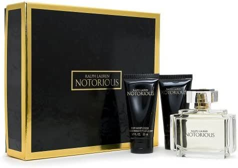 Notorious By Ralph Lauren For Women Eau De Parfum Spray 2.5 Oz & Body Lotion 1.7 Oz & Shower Gel 1.7 Oz