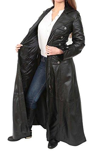 Pleine Robin Pliant Ajusté Militaire Col Noir Large Longueur Tranchée Dames Style En Lapel Femmes Manteau wTRttO