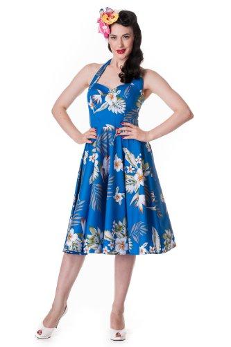 Hell-Bunny-Aloha-Tropical-Hawaiian-Flower-Print-Alika-Halter-Dress