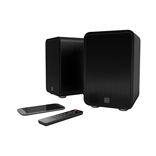 (KitSound Reunion Wireless Bookshelf Speaker - Black)