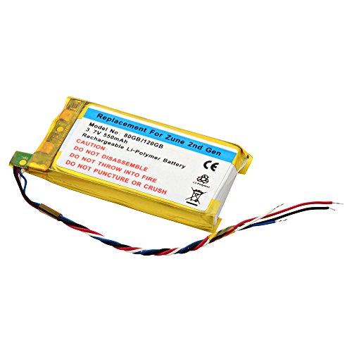 PDA-175LI-80G MP3 Player Dantona Lithium, Lithium Polymer (Li-Po) Voltage: 3.7 Battery