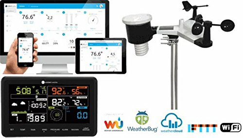 Ambient Weather WS-2902A 10-in-1 Wi-Fi Professional Weather Station with Internet Monitoring, Compatible with Alexa (Rain Rainfall Gauges Measure)
