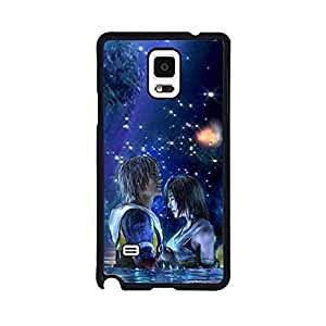GreatLaStore Samsung Galaxy Note 4 Case Cover [Euphoria Series] Disney Cartoon Anime Comics Character Final Fantasy Hard Tpu Slim Fit Hybrid Black Protective Snap on Accessories for Girls