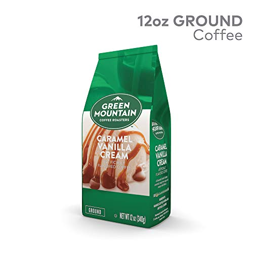 Green Mountain Coffee Caramel Vanilla Cream, Ground Flavored Coffee, Light Roast, Bagged 12oz. (Green Mountain Caramel Vanilla Cream K Cups)