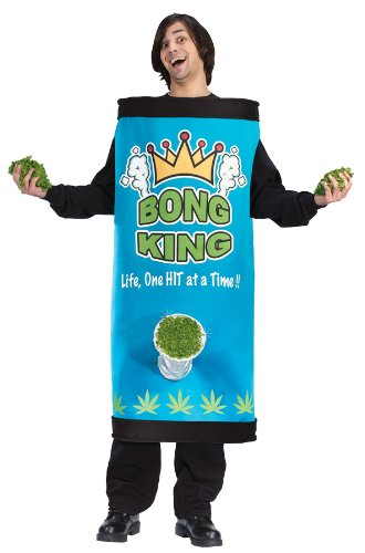 Bong Costumes (Bong King Men's Adult Halloween Costume One Size Fits Most #5451)