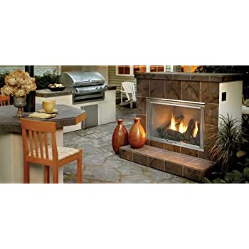 42 Outdoor Dakota Gas Fireplace With Herringbone Brick Lp