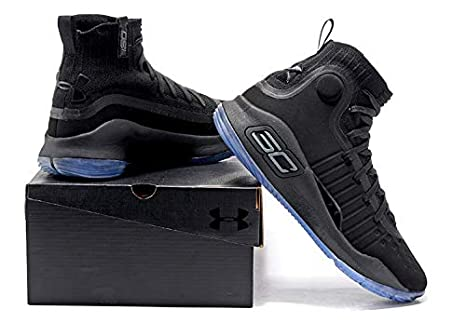 05fa2a33195a Under Armour Curry 4 Triple Black Men s Basketball Shoes  Amazon.in ...
