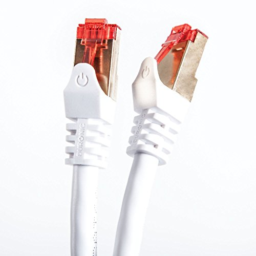 0.5M High Speed Computer LAN Internet Network Cord (White) - 5