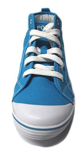 Hi Ginnastica Blue Da Polo Ft70 Tops Con Scarpe Lacci Womens Ralph Lauren qWIF8wF1O7