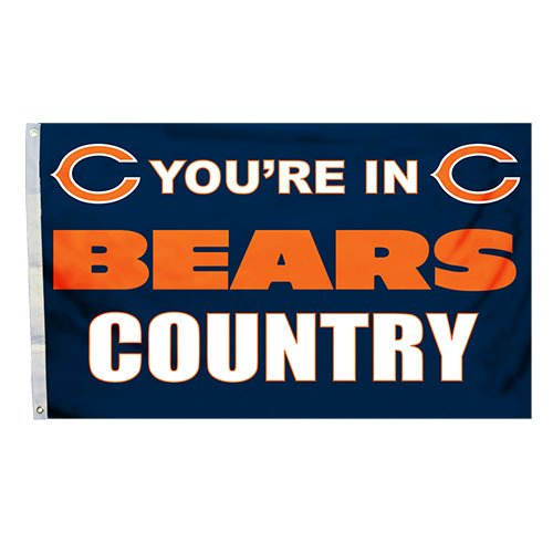 Fremont Die NFL Chicago Bears 3-by-5 Foot In Country Flag