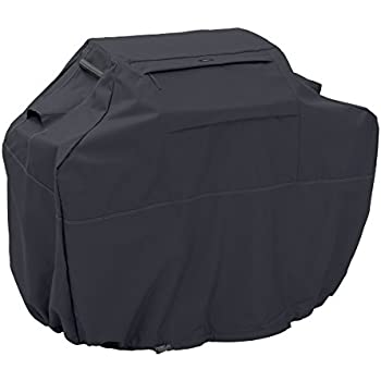 Classic Accessories Ravenna Grill Cover - Premium BBQ Cover with Reinforced Fade-Resistant Fabric, Medium-Small, 52-Inch
