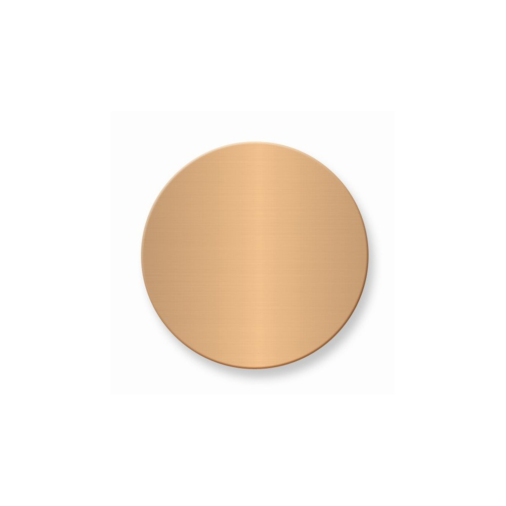 1 1/4 x 1 1/4 Round Copper Alum Plates-Sets of 6