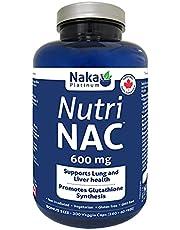Naka Platinum Nutri NAC (N-Acetyl-L-cysteine) 600 mg per capsule - BONUS SIZE 300 Veggie Capsules (240+60) FREE)