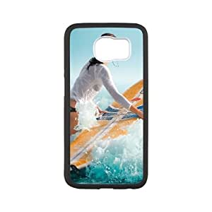 Samsung Galaxy S6 Cell Phone Case Black Surf GirlSLI_848972